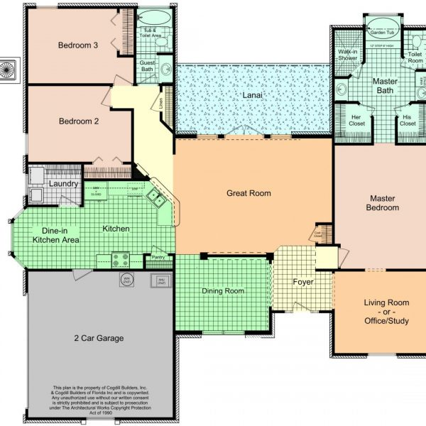3 Bedroom Floorplans Gainesville Florida Custom Home Builders