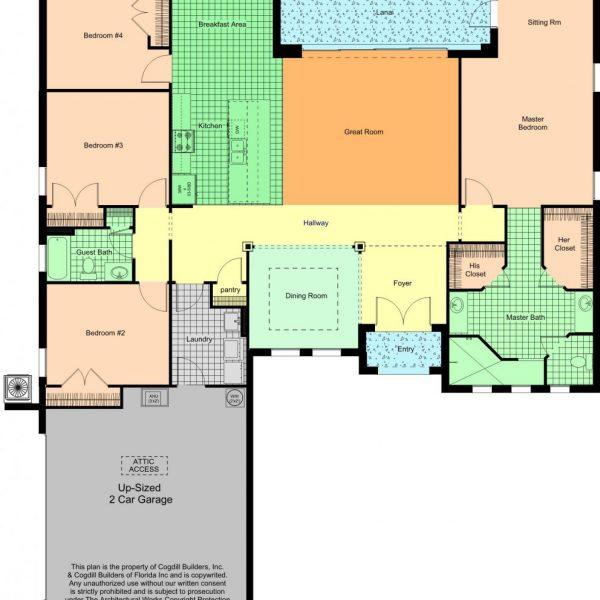 4 Bedroom Floor Plans